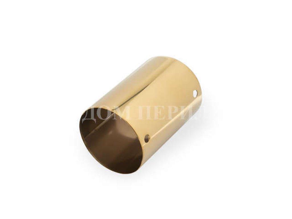 Соединитель для поручня из ПВХ ∅50 мм (под золото)