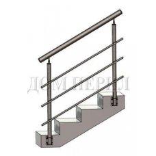 Перила из нержавеющей стали (нержавейки) № 6 (боковое крепление)
