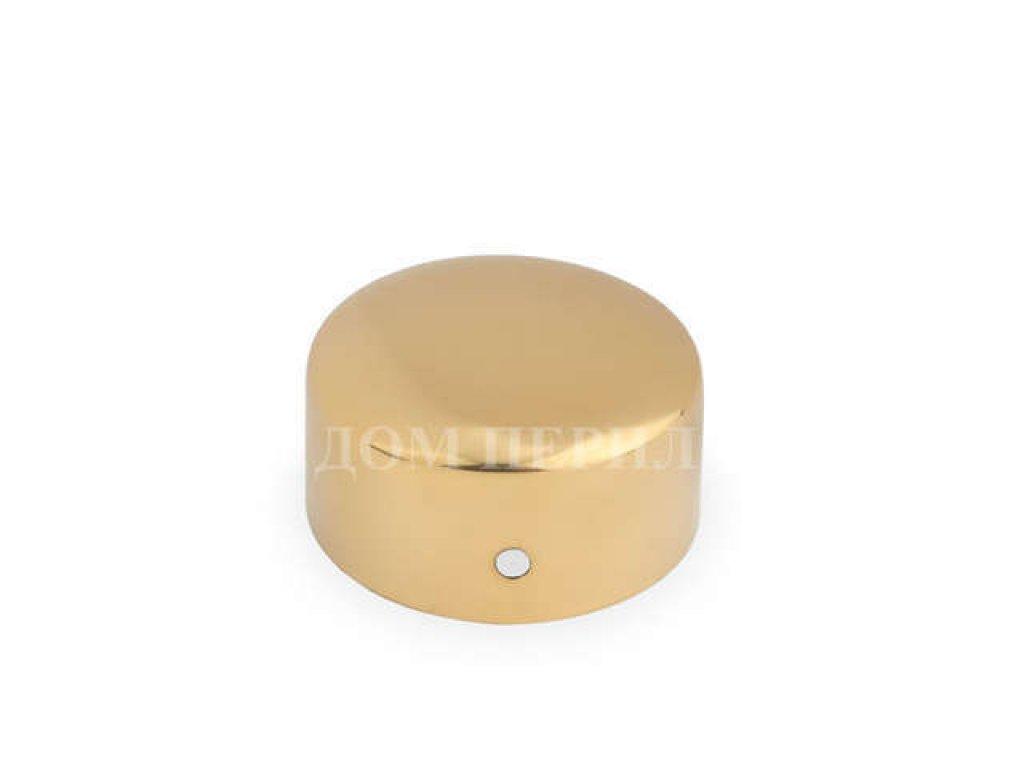 Заглушка под деревянный поручень ∅50 мм (под золото)